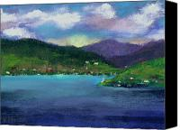 Seascape Pastels Canvas Prints - Priest Lake Bay Canvas Print by David Patterson