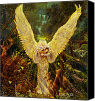 Angel Pictures Canvas Prints - Priestess Of The Woods Canvas Print by Steve Roberts