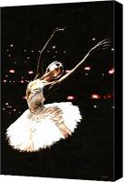 Dancer Painting Canvas Prints - Prima Ballerina Canvas Print by Richard Young