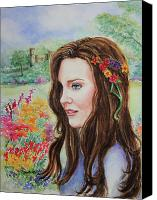Engagement Canvas Prints - Princess Kate Canvas Print by Patricia Allingham Carlson