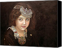 Ethnic Painting Canvas Prints - Princess of the East Canvas Print by Enzie Shahmiri