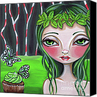 Cupcake Canvas Canvas Prints - Princess Peppermint Canvas Print by Jaz Higgins