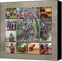 Rangers Canvas Prints - Print Collection French and Indian War Canvas Print by Randy Steele