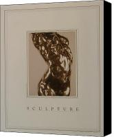  Pose Canvas Prints - Print of Sculpture by the artist Canvas Print by Gary Kaemmer