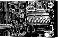 Typewriter Canvas Prints - Printing Press Canvas Print by Kenneth Mucke
