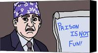 Boss Digital Art Canvas Prints - Prison Mike Canvas Print by Jera Sky