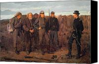 Military Uniform Painting Canvas Prints - Prisoners from the Front Canvas Print by Winslow Homer