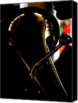 Tuba Canvas Prints - Profile in Tuba  Canvas Print by Steven  Digman