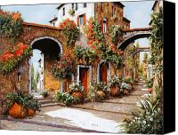 Tuscany Painting Canvas Prints - Profumi Di Paese Canvas Print by Guido Borelli