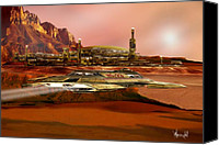 Rocketship Canvas Prints - Project Mars-Reborn Canvas Print by Bill Wright