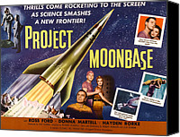 1950s Poster Art Canvas Prints - Project Moon Base, Aka Project Canvas Print by Everett