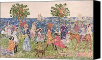 Donkey Painting Canvas Prints - Promenade Canvas Print by Maurice Brazil Prendergast
