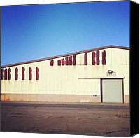 Igerseastbay Canvas Prints - Proof That I Exist :industrial Facade Canvas Print by Resonate Iphoneography