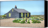 Derek Canvas Prints - Prospect Cottage Dungeness Canvas Print by Chris Thaxter