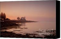 Daybreak Canvas Prints - Prospect Harbor Dawn Canvas Print by Susan Cole Kelly