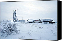 Thor Canvas Prints - Proton M Rocket Near Its Launch Pad Canvas Print by Ria Novosti