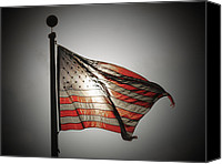 Flag Pole Canvas Prints - Proud Canvas Print by Chris Brannen