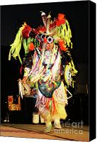 Pow Wow Canvas Prints - Proud Dancer Canvas Print by Joy Tudor