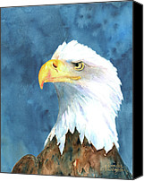 Bald Eagle Canvas Prints - Proud Eagle Canvas Print by Arline Wagner