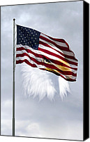 Flagpole Canvas Prints - Proudly We Hail Canvas Print by Peter Chilelli