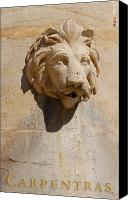 Fontain Canvas Prints - Provence Fountain 3 Carpentras Canvas Print by Philippe Taka