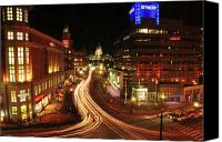 Providence Canvas Prints - Providence RI  Canvas Print by Ken Welsh