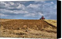 Red Tractors Canvas Prints - Provision Canvas Print by Emily Stauring