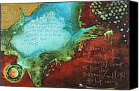 Bible Mixed Media Canvas Prints - Psalm 139  Canvas Print by Michel  Keck