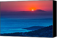 Acropolis Canvas Prints - Psara sunset  Canvas Print by Emmanuel Panagiotakis