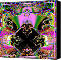 Blackhole Canvas Prints - Psychedelic Blackhole Birthday Party Fractal 120 Canvas Print by Rose Santuci-Sofranko