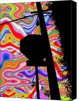 Psychedelic Canvas Prints - Psychedelic Sky Canvas Print by Phill Petrovic