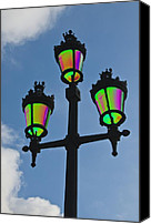 Ironworks Canvas Prints - Psychedelic Streetlamps Canvas Print by Richard Henne
