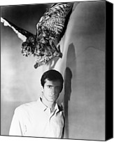1960 Movies Canvas Prints - Psycho, Anthony Perkins, 1960 Canvas Print by Everett