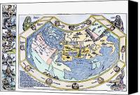 Noah Canvas Prints - Ptolemaic World Map, 1493 Canvas Print by Granger