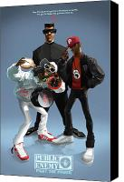  Poster Art Digital Art Canvas Prints - Public Enemy Canvas Print by Nelson Garcia