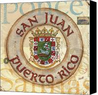 Coat Of Arms Canvas Prints - Puerto Rico Coat of Arms Canvas Print by Debbie DeWitt