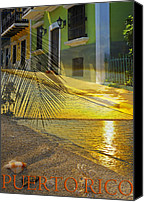 Old San Juan Canvas Prints - Puerto Rico Collage 3 Canvas Print by Stephen Anderson