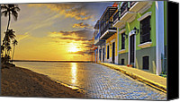 Old San Juan Canvas Prints - Puerto Rico Montage 1 Canvas Print by Stephen Anderson
