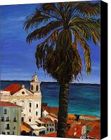 Tropical Canvas Prints - Puerto Rico Old San Juan Canvas Print by Gregory Allen Page