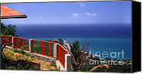 Puerto Rico Photo Canvas Prints - Puerto Rico Panoramic Canvas Print by Thomas R Fletcher