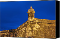 Puerto Rico Canvas Prints - Puerto Rico, San Juan, Morro Castle At Dusk Canvas Print by Bryan Mullennix