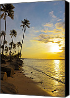 Puerto Rico Photo Canvas Prints - Puerto Rico Sunset Canvas Print by Stephen Anderson