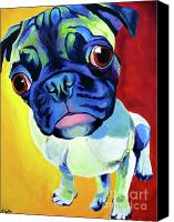 Pet Canvas Prints - Pug - Lola Canvas Print by Alicia VanNoy Call