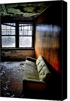 Abandoned Structures Canvas Prints - Pull Up A Couch Canvas Print by Emily Stauring