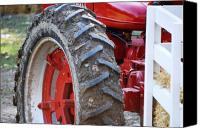 Tractor Wheel Canvas Prints - Pulling for the Farm Canvas Print by Peter  McIntosh
