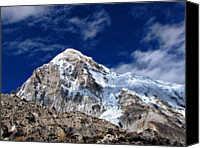 Nepal Canvas Prints - Pumori-everest Base Camp Trek-nepal Canvas Print by Copyright Michael Mellinger