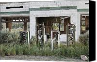 Classic Gas Pumps Canvas Prints - Pumped Canvas Print by Donna Duckworth