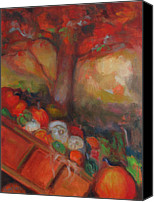 Susan Hanlon Canvas Prints - Pumpkin Cart Canvas Print by Susan Hanlon