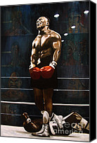 Mike Painting Canvas Prints - Punch Out - Mike Tyson Canvas Print by Ryan Jones