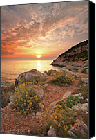 Water Canvas Prints - Punta Rossa Canvas Print by Paolo Corsetti